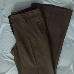 MICHAEL KORS  Women's Brown Plaid Dress Pants